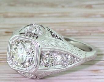 Edwardian 0.67 Carat Old European Cut Diamond Engagement Ring, circa 1910