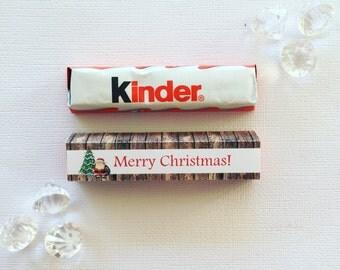 Wooden Santa kinder cover