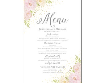 Printable Wedding Menu Sign, Wedding Printable Menu Sign, Wedding Menu Poster, Wedding Sign, Wedding Menu Board, Menu Poster #CL134