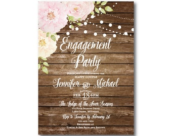 Rustic Engagement Party Invitation, Chic Invitation, Fall Invitation, Party Invitation, Rustic Invitation, Engagement Party Invite #CL156