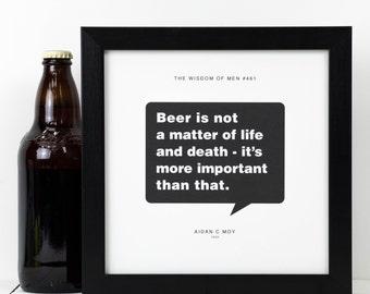 Personalised Beer Print; Personalised Beer Poster; Personalised Beer Gift; Beer Art; Gift For Him; Boyfriend Gift; PAP103