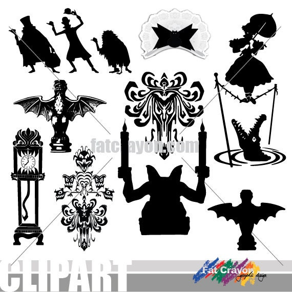 NEW Clip Art Added INSTANT DOWNLOAD Haunted Mansion Clip