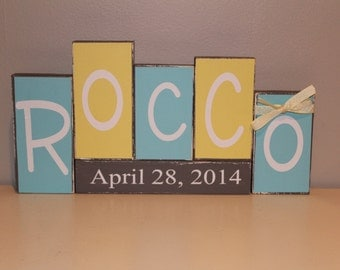 Personalized Name Block Set