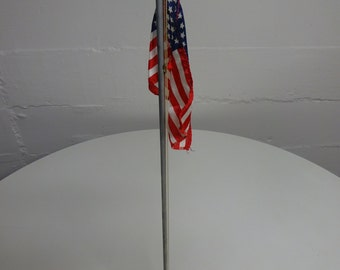 American Flag Raising Wind Up Music Box to Star Spangled Banner by Patriot/  Rare Vintage American Flag Wind Up Music Box/ FREE SHIPPING