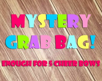 Mystery Cheer Bow Fabric Grab Bag
