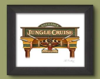 Disneyland Signage Digital Art Print: Jungle Cruise