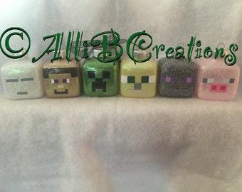Personalized Handmade Minecraft Ornaments