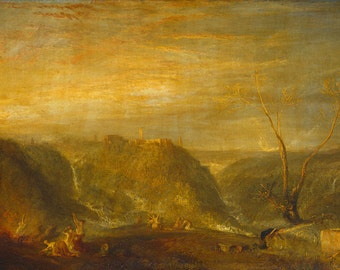 Joseph Mallord William Turner:  The Rape of Proserpine. Fine Art Print/Poster. (003540)