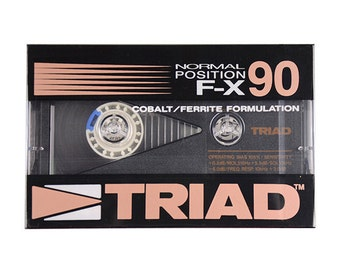 Set of 10 TRIAD F-X90 Blank Cassette Tapes, Type I, Normal Position, Factory Sealed w Box, That's Products, Taiyo Yuden, Cobalt Ferrite