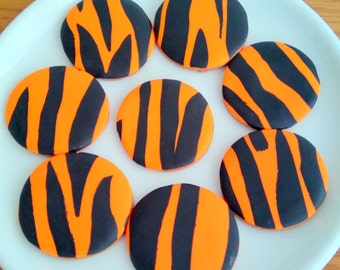 12 Tiger Stripe Novelty Cookies