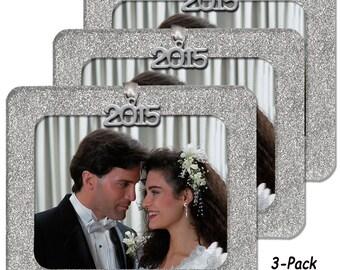 Magnetic Glitter Horizontal Photo Ornaments