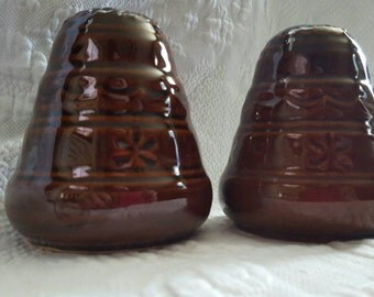 VINTAGE Marcrest stoneware, salt and pepper shakers