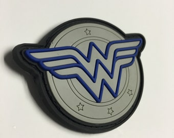 Wonder Woman Patch - Thin Blue Line Edition