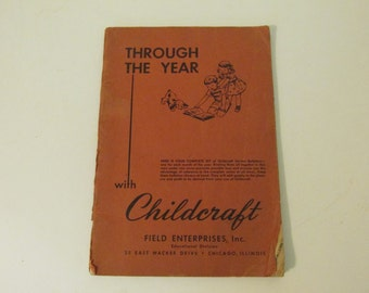Through the Year with Childcraft Vintage 1949 Supplemental Softcover Staplebound Booklet