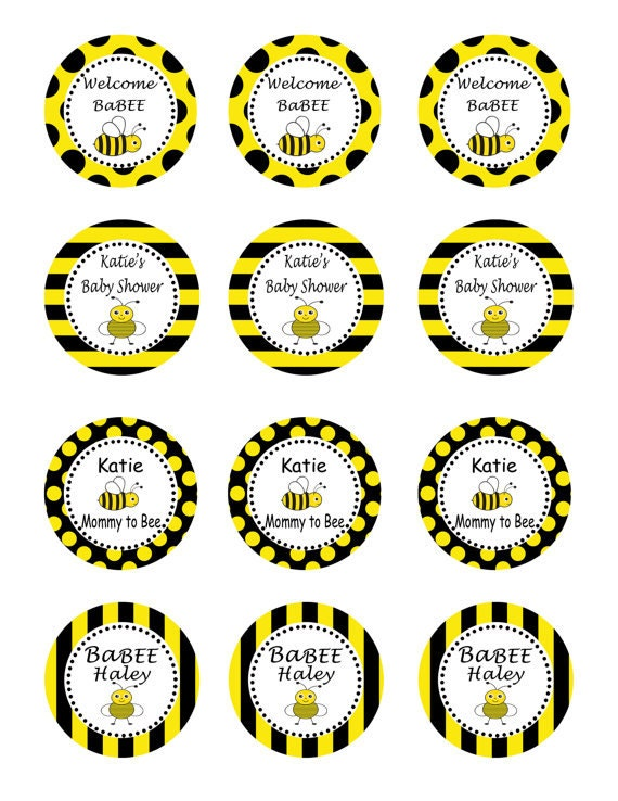 Personalized Printable Bumble Bee Baby Shower By