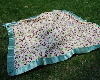 Owl Stroller Blanket