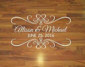 Dance Floor Decal - Wedding Decal - Vinyl Decal - Personalized Decal - Vinyl Floor Decal - Personalized Wedding Decor - Custom Wedding Decor