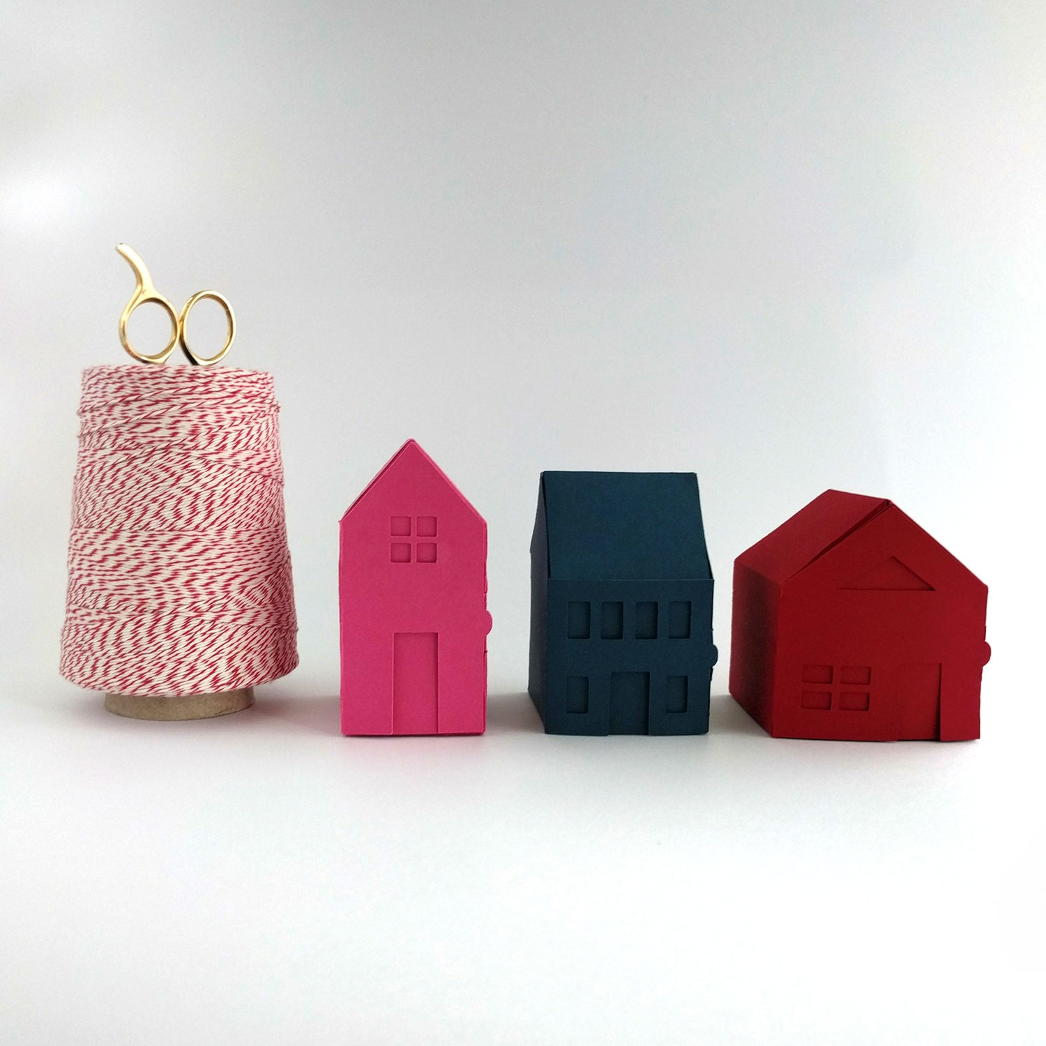 Village Paper Craft Kit 2 Make Your Own Tiny Paper Houses
