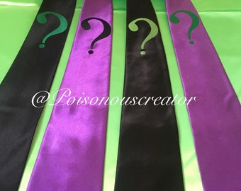 THE RIDDLER costume fancy dress tie.