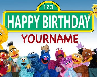 Sesame Street Custom Birthday Banner
