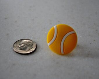 Tennis Ball Tie Tack,Tennis Pin,Accessories,Tie Clip,Pin,Sports