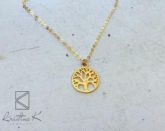 Tree of Life gold Mens Necklace, Unique Christmas Gift, Layered Necklace | Long Men Necklace | Gold Necklace | Gift for him | Men's Necklace