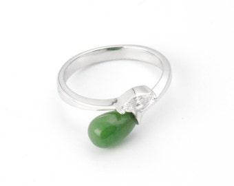 Canadian Nephrite Jade Ring, R0342- Clearance