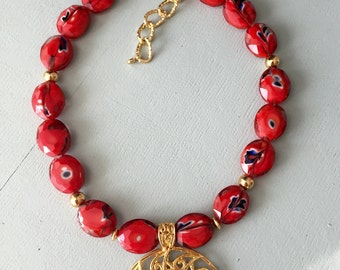 Short Red Necklace