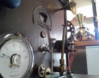 Steampunk time machine lamp