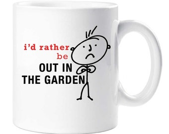 Garden Mug Mens I'd Rather Be Out In The Garden Present 12oz mug Ceramic Dad Grandpa Husband Present