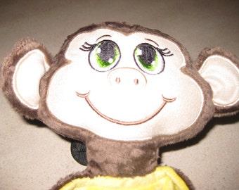 Blankie, Monkey Lovey, Monkey Blankie, Girl Monkey Security Blanket, Baby Shower gift, Newborn gift