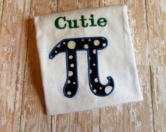 Cutie Pi shirt, Math nerd kid shirt, Geekery, Pi joke tee, smart kids shirt, math club, 3.14159