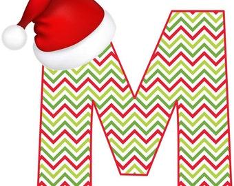 Christmas Theme Initial Iron On Transfer
