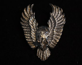 Attacking Eagle - Sterling Silver Pin / Tie Tack