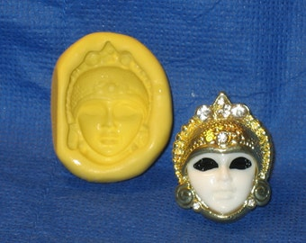 Mask Flexible Push Mold Rein Candy Paper Clay Chocolate Fondant Wax #433 Topper Soap candle