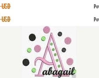 HUGE SALE Instant Download Embroidery Machine Designs Fonts Alphabet Polka Dots ART Bernina Format Only