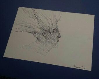 Original pen drawing