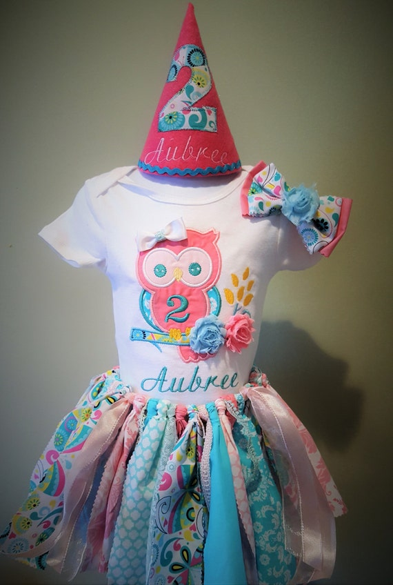 Shabby owl birthday outfit shabby chic owl fabric tutu - Shabby chic outfit ideas ...