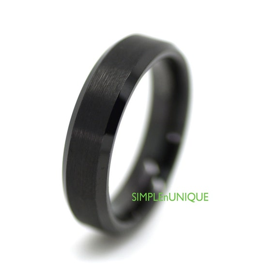 Mens Womens Tungsten Wedding Ring Promise Ring by SIMPLEnUNIQUE