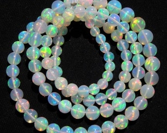 Free shipping Top quality Natural Ethiopian Welo Opal Smooth Round Balls 18.5 inch Full Strand 3-6 M.M. Round Beads,welo opal beads