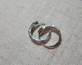 Ouroboros earrings sterling silver 18 mm about 4 gm pair unisex