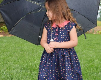 Girls Spring Dress with Peter Pan collar