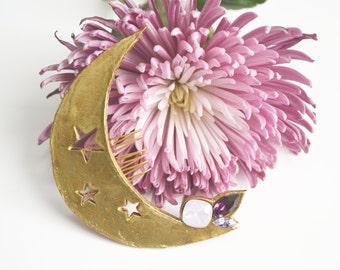 Heavenly moon- Headpiece, wedding accessories, naif, bridal headpiece.