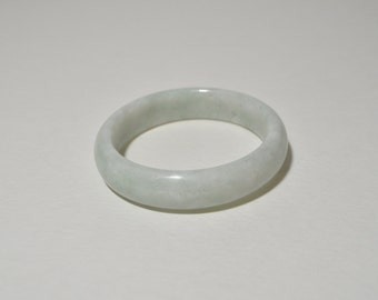 Vintage Natural Genuine Light Green Jadeite Jade Bangle Bracelet 15 mm