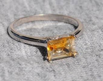 Citrine Ring Faceted S6-1/2
