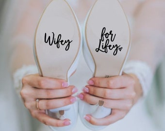 Wifey for Lifey Wedding Heels Shoes Decal Sticker Something Blue Bride FREE SHIPPING