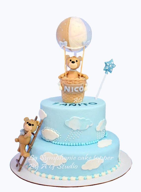 Hot Air Balloon Baby Shower Cake Topper