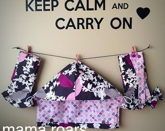 Violet finch Tula curved drool pads! Fully lined and reversible! Lots of fabric choices