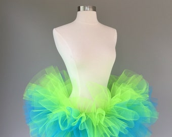 Neon Adult Tutu- Rave- Race-5k- color run-Burning Man- glow run- any size