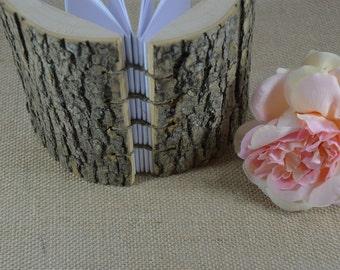 WEDDING GUEST BOOK Wood Natural  Rustic handmade journal Wood Handmade Heart